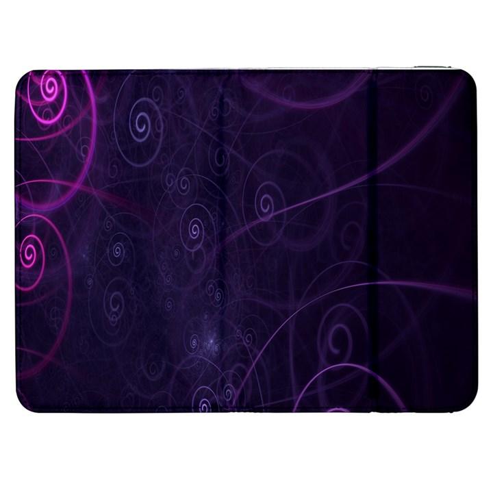 Purple Abstract Spiral Samsung Galaxy Tab 7  P1000 Flip Case