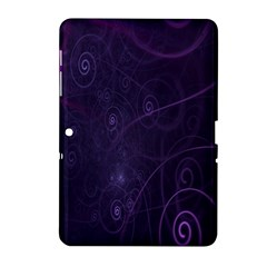 Purple Abstract Spiral Samsung Galaxy Tab 2 (10 1 ) P5100 Hardshell Case  by Jojostore
