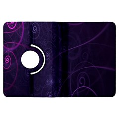 Purple Abstract Spiral Kindle Fire Hdx Flip 360 Case by Jojostore