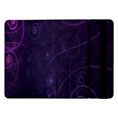 Purple Abstract Spiral Samsung Galaxy Tab Pro 12 2  Flip Case by Jojostore