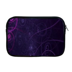 Purple Abstract Spiral Apple Macbook Pro 17  Zipper Case by Jojostore