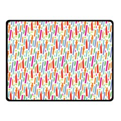 Splash Pattern Color Sign Double Sided Fleece Blanket (small)  by Jojostore