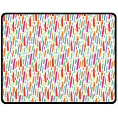 Splash Pattern Color Sign Double Sided Fleece Blanket (medium)  by Jojostore
