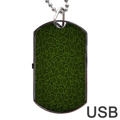 Leaves Dark Dog Tag Usb Flash (one Side) by Jojostore