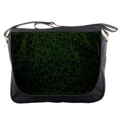 Leaves Dark Messenger Bags by Jojostore
