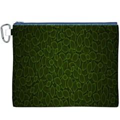 Leaves Dark Canvas Cosmetic Bag (xxxl) by Jojostore