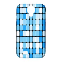 Ronded Square Plaid Blue Samsung Galaxy S4 Classic Hardshell Case (pc+silicone) by Jojostore
