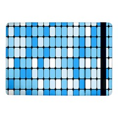 Ronded Square Plaid Blue Samsung Galaxy Tab Pro 10 1  Flip Case by Jojostore