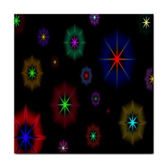 Star Circles Colorful Glitter Tile Coasters by Jojostore