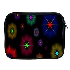 Star Circles Colorful Glitter Apple Ipad 2/3/4 Zipper Cases by Jojostore