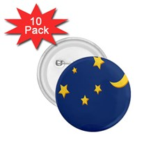 Starry Night Moon 1 75  Buttons (10 Pack) by Jojostore