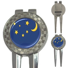 Starry Night Moon 3 In 1 Golf Divots by Jojostore