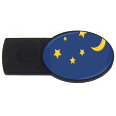 Starry Night Moon Usb Flash Drive Oval (2 Gb) by Jojostore
