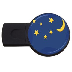 Starry Night Moon Usb Flash Drive Round (4 Gb) by Jojostore