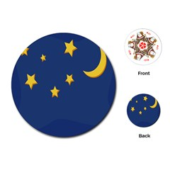 Starry Night Moon Playing Cards (round)  by Jojostore
