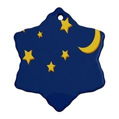 Starry Night Moon Ornament (snowflake) by Jojostore