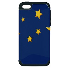 Starry Night Moon Apple Iphone 5 Hardshell Case (pc+silicone) by Jojostore