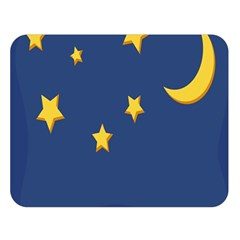 Starry Night Moon Double Sided Flano Blanket (large)  by Jojostore