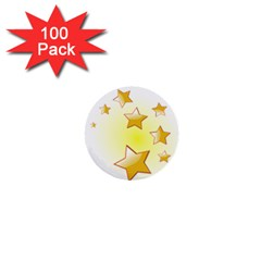 Star Gold 1  Mini Buttons (100 Pack)  by Jojostore