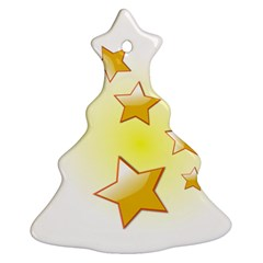 Star Gold Ornament (christmas Tree)  by Jojostore