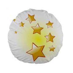 Star Gold Standard 15  Premium Round Cushions by Jojostore