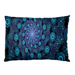 Illusion Spiral Rotation Shape Purple Flower Pillow Case by Jojostore