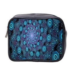 Illusion Spiral Rotation Shape Purple Flower Mini Toiletries Bag 2 Side by Jojostore