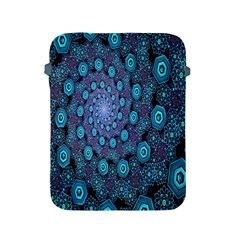 Illusion Spiral Rotation Shape Purple Flower Apple Ipad 2/3/4 Protective Soft Cases by Jojostore