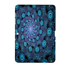 Illusion Spiral Rotation Shape Purple Flower Samsung Galaxy Tab 2 (10 1 ) P5100 Hardshell Case  by Jojostore