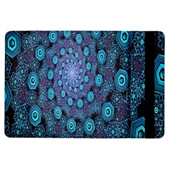 Illusion Spiral Rotation Shape Purple Flower Ipad Air Flip by Jojostore