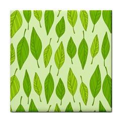 Spring Leaf Green Tile Coasters by Jojostore