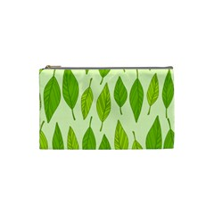 Spring Leaf Green Cosmetic Bag (small)  by Jojostore