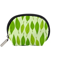 Spring Leaf Green Accessory Pouches (small)  by Jojostore
