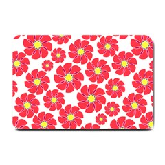 Seamless Floral Flower Red Fan Red Rose Small Doormat  by Jojostore