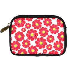 Seamless Floral Flower Red Fan Red Rose Digital Camera Cases by Jojostore