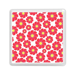 Seamless Floral Flower Red Fan Red Rose Memory Card Reader (square)  by Jojostore