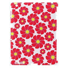 Seamless Floral Flower Red Fan Red Rose Apple Ipad 3/4 Hardshell Case (compatible With Smart Cover) by Jojostore