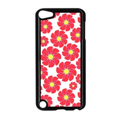 Seamless Floral Flower Red Fan Red Rose Apple Ipod Touch 5 Case (black) by Jojostore