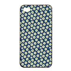 Floral Seamless Flower Blue Apple Iphone 4/4s Seamless Case (black) by Jojostore