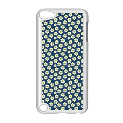 Floral Seamless Flower Blue Apple Ipod Touch 5 Case (white) by Jojostore
