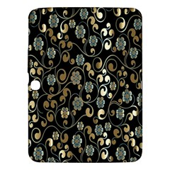 Clipart Chromatic Floral Gold Flower Samsung Galaxy Tab 3 (10 1 ) P5200 Hardshell Case  by Jojostore