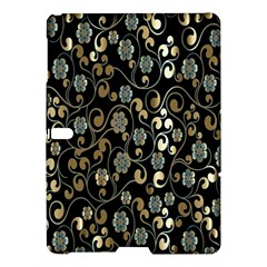 Clipart Chromatic Floral Gold Flower Samsung Galaxy Tab S (10 5 ) Hardshell Case  by Jojostore