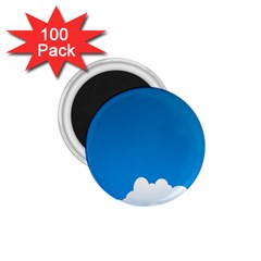 Clouds Illustration Blue Sky 1 75  Magnets (100 Pack)  by Jojostore