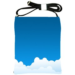 Clouds Illustration Blue Sky Shoulder Sling Bags by Jojostore