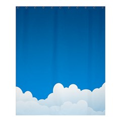 Clouds Illustration Blue Sky Shower Curtain 60  X 72  (medium)  by Jojostore