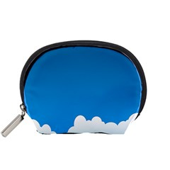 Clouds Illustration Blue Sky Accessory Pouches (small)  by Jojostore