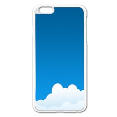 Clouds Illustration Blue Sky Apple Iphone 6 Plus/6s Plus Enamel White Case by Jojostore