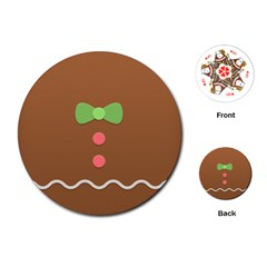 Stunning Gingerbread Brown Bread Playing Cards (round)  by Jojostore