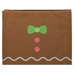 Stunning Gingerbread Brown Bread Cosmetic Bag (xxxl)  by Jojostore