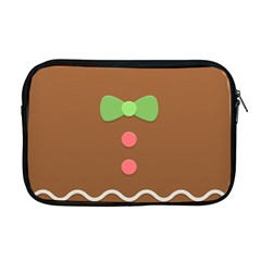 Stunning Gingerbread Brown Bread Apple Macbook Pro 17  Zipper Case by Jojostore